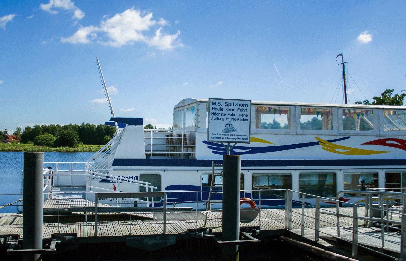 Das Fahrgastschiff MS Spitzhörn