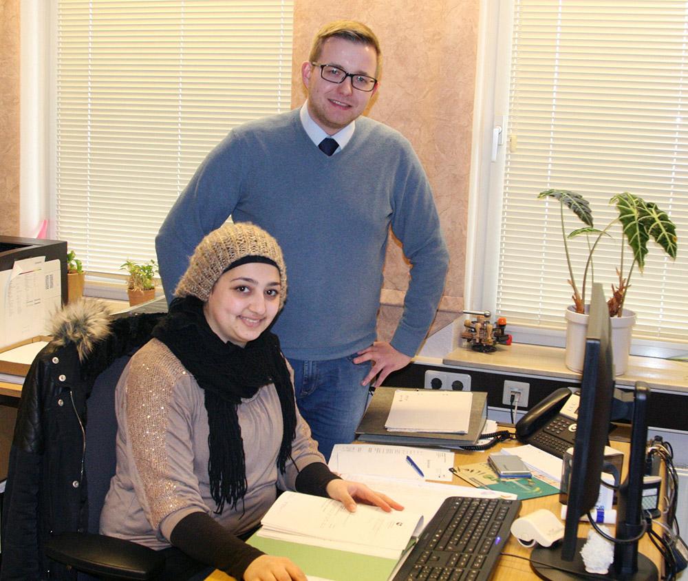 Bürgermeister Nils Anhuth und Frau Al Hajj