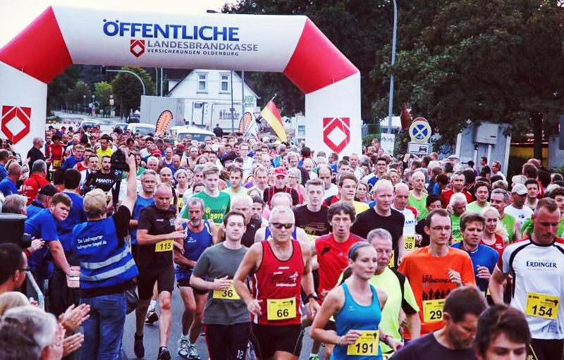 Start beim Hafenfestlauf in Barßel.