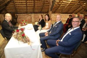 Hochzeitspaar in der Mueseumsscheune