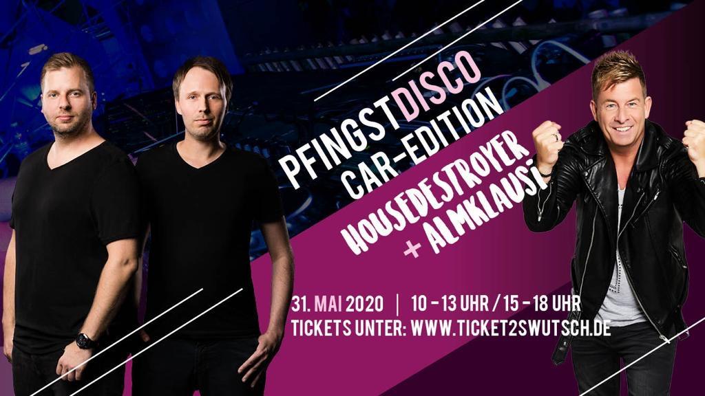 Veranstaltungsbanner der Pfingstdisco in der Car-Edition.