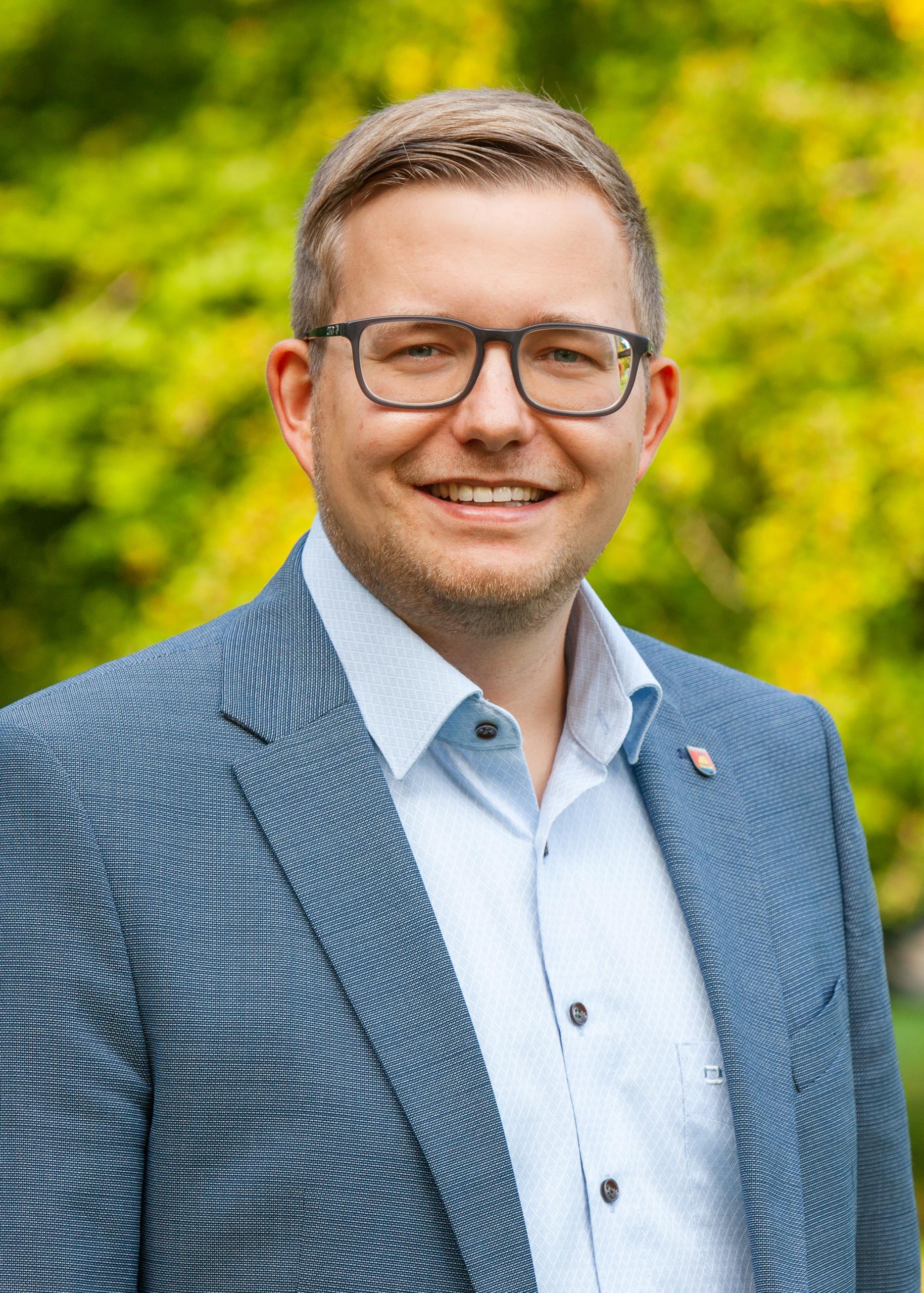 Bürgermeister Nils Anhuth. Aufnahme: Fotostudio Scheiwe