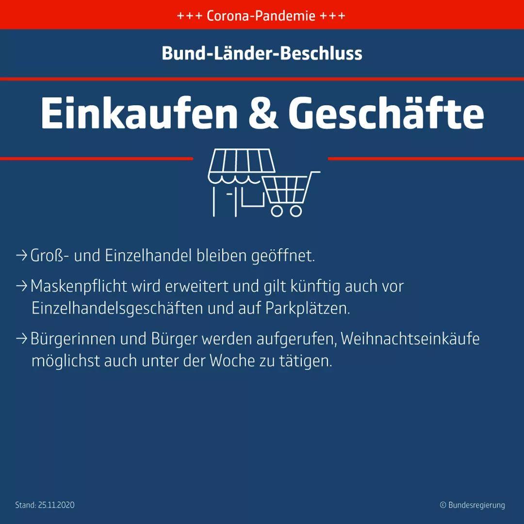 """Bund-Länder-Beschluss zum Thema """"Kontakte reduzieren"""". Bildquelle: Bundesregierung"""